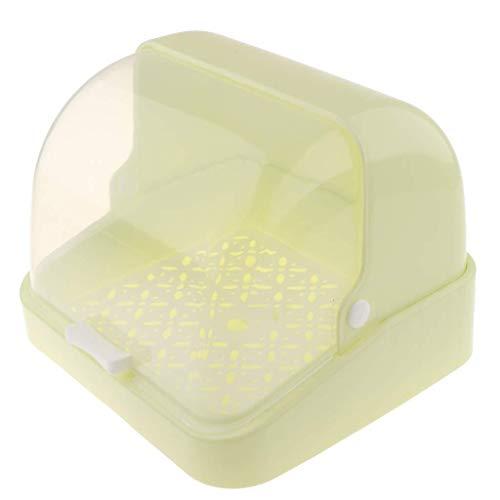 Oinna Botella de agua para bebé, recipiente de drenaje, caja de almacenamiento, caja de almacenamiento para cosméticos, para el hogar o la oficina, color verde
