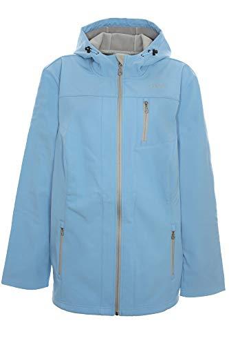 Sheego Softshelljacke Outdoorjacke Jacke Anorak Damen Plusgröße, Farbe:blau, Damengrößen:48