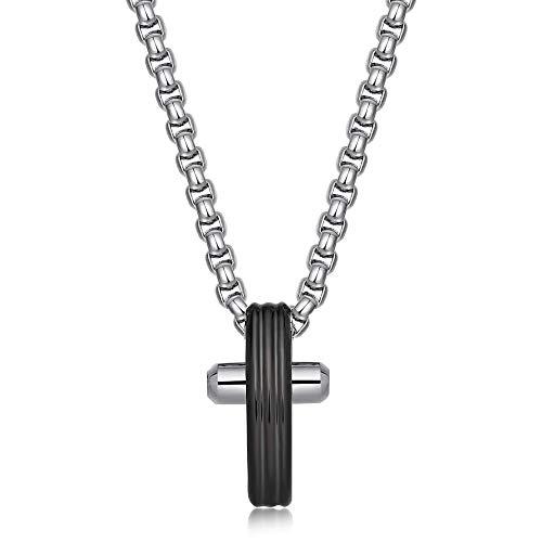 BROSWAY - Collana in acciaio uomo con pendente croce piccola in acciaio e pvd BROSWAY BRX08