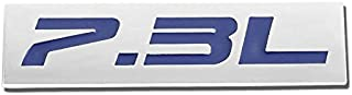 UrMarketOutlet 7.3L Blue/Chrome Aluminum Alloy Auto Trunk Door Fender Bumper Badge Decal Emblem Adhesive Tape Sticker