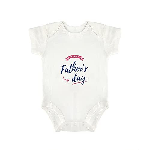 Diuangfoong - Body de manga corta para el día del padre con imagen de vectores para bebé, para el día del padre, lindo bebé niñas y niños (0-18 meses)