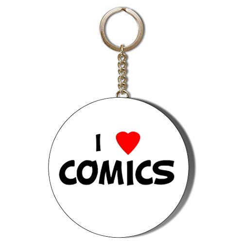 Gift Insanity I LOVE COMICS 45mm CHAIN KEYRING