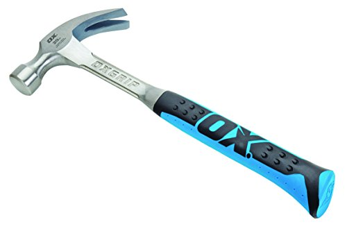 OX Claw Hammer - Pro Series Claw Hammer with Curved Claw - Non-slip Grip - Multicolour - 20 Oz