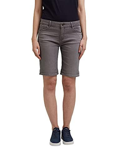 ESPRIT Damen 991EE1C305 Jeans-Shorts, 922/GREY MEDIUM WASH, 26