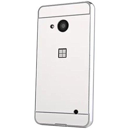 HUANGTAOLI Bumper di Metallo in Alluminio Custodia a Specchio Cover per Microsoft Lumia 550
