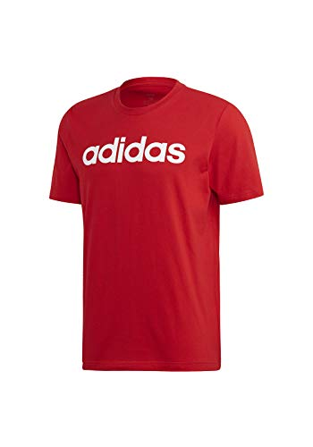 adidas Herren T-Shirt Essential Linear, Scarle/White, XL, FM6223