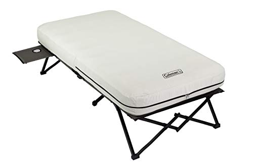 Coleman Twin Airbed Folding Cot with Side Table