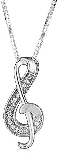 N-G Sterling Silver Treble Clef Music Pendant Necklace (Available Chain Length)