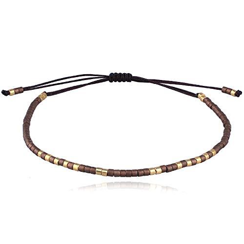 C·QUAN CHI 2020 Nuevo Leopardo Miyuki Beads Link Pulsera Amistad Pulsera Colorido Pila Ajustable...