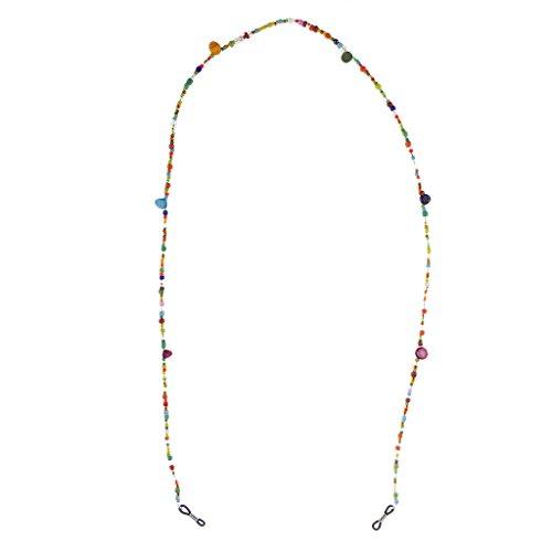 Baoblaze Correa Duradera Cadena de Gafas Antideslizante Cuentas de Vidrio Perlas Elegante