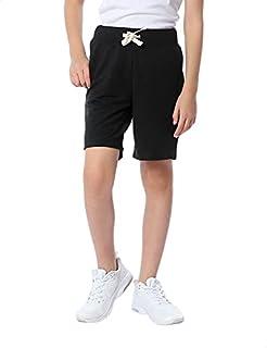 Kady Cotton Drawstring Elastic Waist Side-Pocket Sweat Shorts for Kids