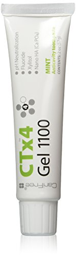 CariFree CTx4 Gel 1100 (Mint): Anti-Cavity Toothpaste   Cavity Prevention   Freshens Breath and Moistens Mouth   Dentist Recommended for Oral Care