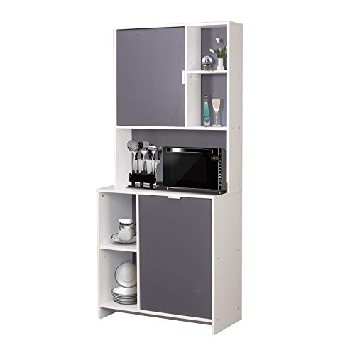 HTI-Line Küchenbuffet Malin Küchenregal Küchenmöbel Mikrowellenschrank Buffetschrank Hochschrank Mehrzweckschrank