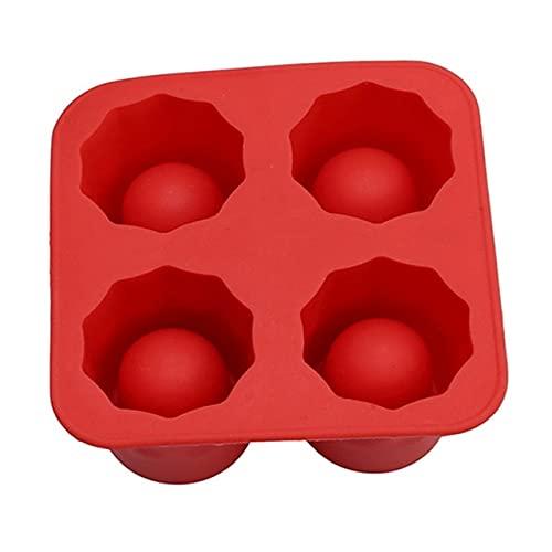 4 tazas forma de silicona cubo de hielo molde de vidrio molde de hielo cubo de hielo bandeja verano bar fiesta cerveza hielo cóctel bebida fría herramienta