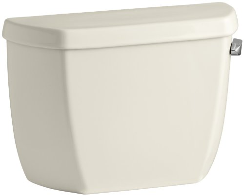 Kohler K-4436-TR-47 Wellworth Classic 1.28 gpf Toilet Tank with Class Five Flushing Technology, Almond