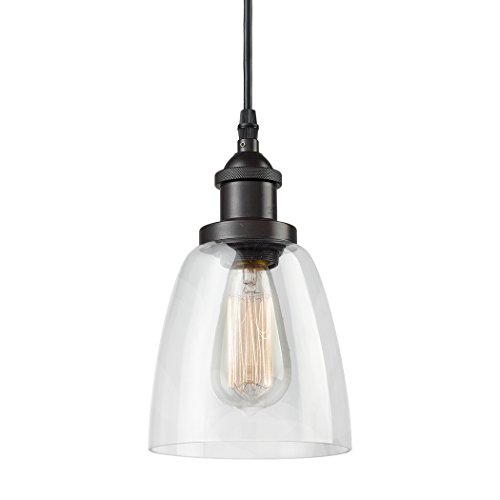 CLAXY Ecopower Industrial Mini Glass Pendant Oil-Rubbed...