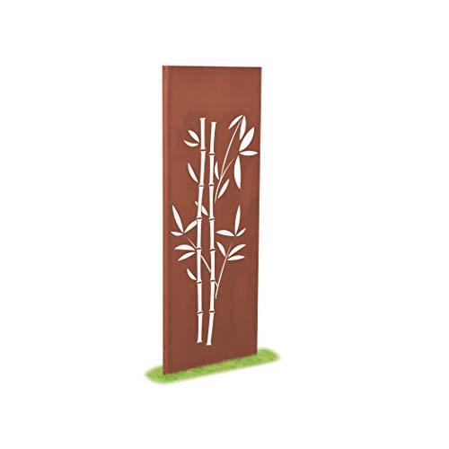 prima terra Deko- und Sichtschutzelement Edelrost Bambus H=158cm B=60cm