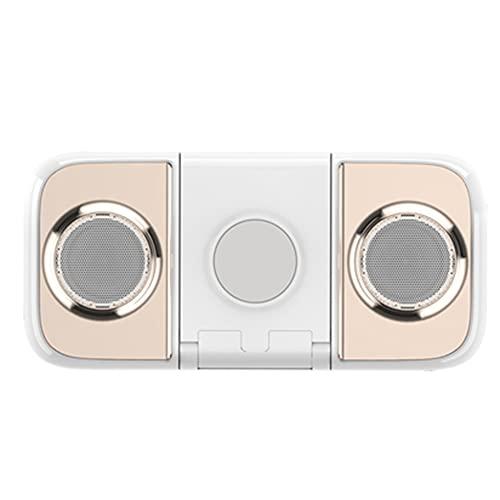 FENGXU Soporte para Teléfono Celular 3 en 1 Escritorio Estación de Acoplamiento de Cargador Inalámbrico con Micrófono Incorporado Altavoz Llamada Manos Libres Bluetooth 4.0 EDR Emparejamiento