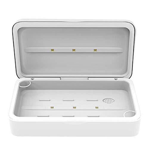 UV-Sterilisationsbox, tragbarer Handy-Sterilisator, mit Aromadiffusor, Smartphone-Schnellladegerät, geeignet für Handys, Schmuck, Uhren, Brillen