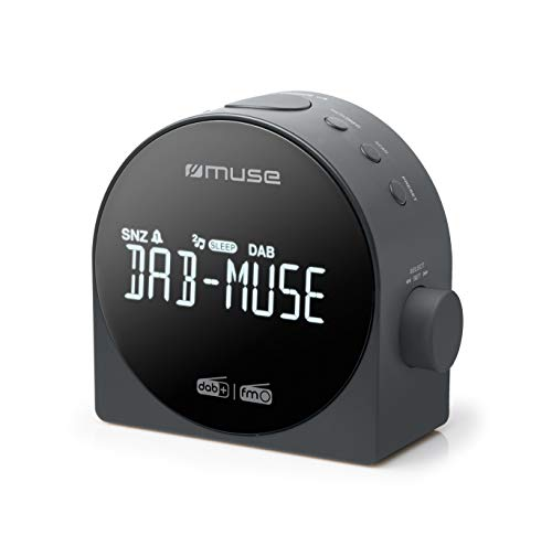 Muse M-185CDB schw. Uhrenradio DAB+DUAL-Alarm, M185CDB