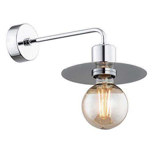ARGON - Lámpara de pared (1 foco, acero cromado)