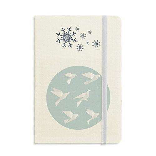 Cuaderno de forma geométrica con forma geométrica de origami, de copos de nieve, de invierno
