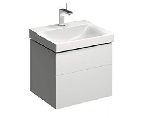 Geberit Xeno 2 Meuble sous-lavabo 500.506. 580x530x462mm, 2 tiroirs, Coloris: Laqué Blanc Brillant - 500.506.01.1