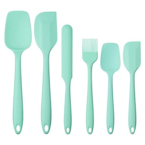 6-Piece Silicone Kitchen Utensil Cooking Utensil Set Green