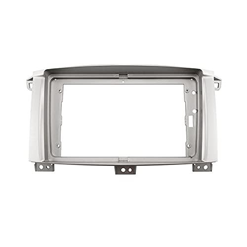 fangyuan Adaptador de marco de fascia de radio de audio para automóvil DVD Player Dash Fitting Panel Frame Fit para Toyota Land Cruiser 2003-2008