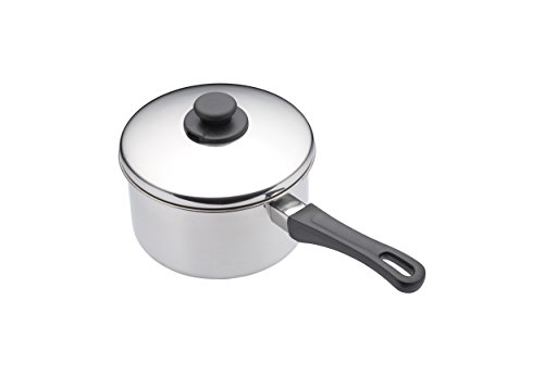 KitchenCraft Extra Deep Induction Saucepan with Lid, 12cm Stainless Steel Pan