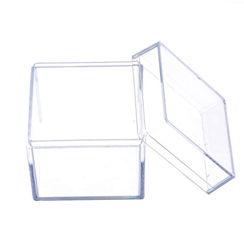 SimpleLife 5 zijdelingse transparante acryl vitrine juwelen opbergdoos vierkante kubus rekwisieten doosje 5 x 5 x 5 cm