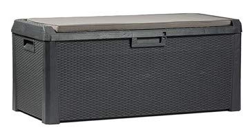 TOOMAX Auflagenbox Kissenbox mit Kissen, Anthrazit, 148 x 72 x 64 cm