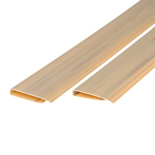 Ventanara Abdeckprofil PVC Sichtschutz Zaun 2x1m Zaunabdeckung 2er Set (Bambus)