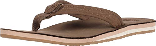 Reef Women's Sandals Voyage Lite Leather | Comfortable Flip Flops for Women | Chocolate | Size 7