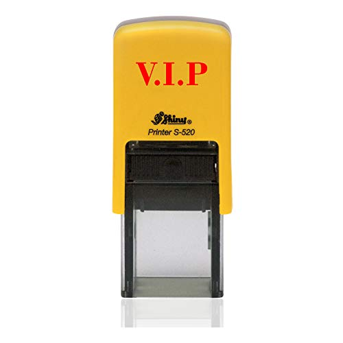 IMPACT2PRINT Shiny 520 VIP Text Selbstfärbender runder Mini-Gummistempel Custom Business Stempel Büro Schreibwaren