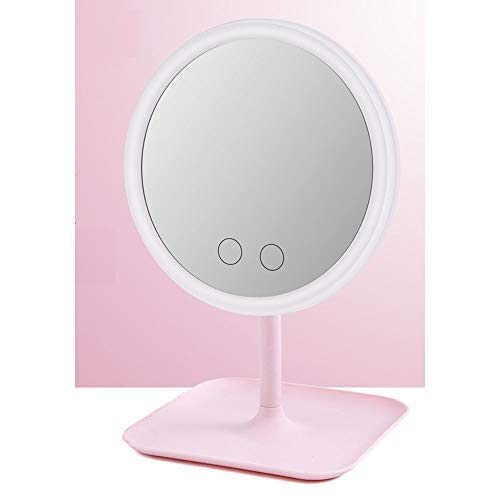 big face cat Portable Cosmetic Mirror with LED Lighting for Makeup Mirror,Girl Powder (Three Colors),Free Size