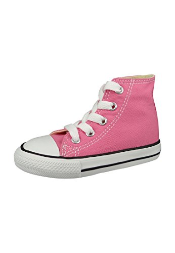 Converse Baby-Girls Chuck Taylor Classic Hi Pink Sneaker - 10