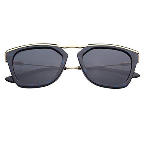 WOYBAOF Exquisito Irregular Polígono Gafas de Sol polarizadas de señora Protección UV de fotograma Completo para Conducir Diseño clásico de Alta Gama de Moda (Color : Gris)