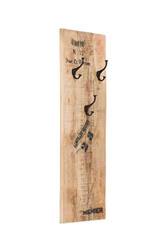 massivum Makeni Garderobe, Holz - Mango, BxHxT 35x110x3 cm