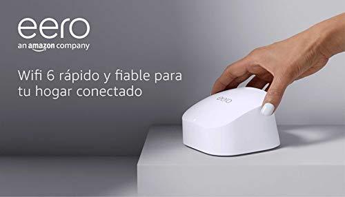 Nuevo | Sistema Wi-Fi 6 de malla de doble banda Amazon eero 6, con controlador de Hogar digital inteligente Zigbee integrado | 1 unidad