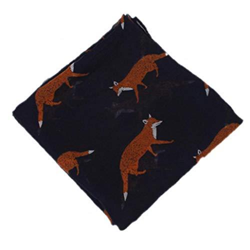 Fox Voile Schal Leichter Schal warm halten Schal Lange Capes Hijab Leiter Wraps Für Frauen Mädchen