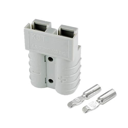 バッテリーコネクタ デュアルタイプ 45A 8AWG BMC2S-8-E 2セット入 グレー