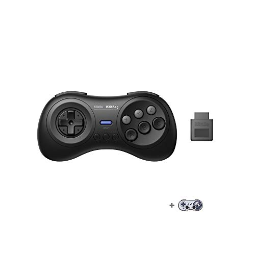 8BitDo M30 2.4G Wireless GamePad for Mega Drive ブラック 【メガドライブ/SWITCH(有線)用コントローラー】