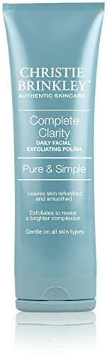 Christie Brinkley | Complete Clarity Daily Facial Exfoliating Polish - Pure & Simple Exlfoliating Polish | 3.0 Ounces