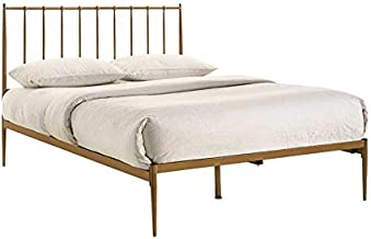 Goldie Brass Mid Century Metal King Bed Frame