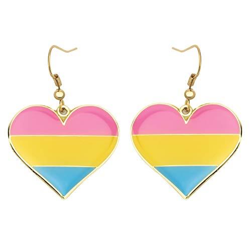 Pendientes colgantes de orgullo pansexual Gay & Lesbian LGBT Pride Gifts Rainbow Jewelry