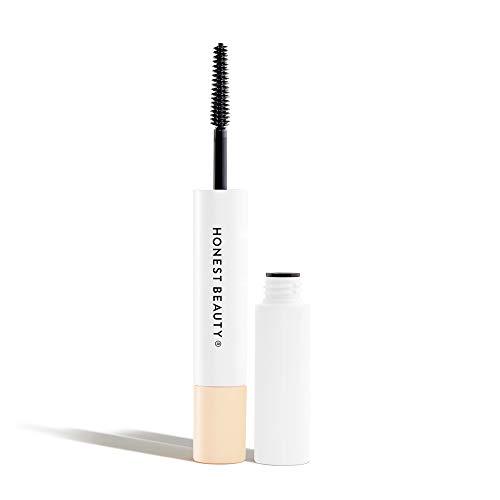 Honest Beauty Extreme Length Mascara + Lash Primer | 2-in-1 Boosts Lash Length, Volume & Definition | Silicone Free, Paraben Free, Dermatologist & Ophthalmologist Tested | 0.2 Fl Oz, Black