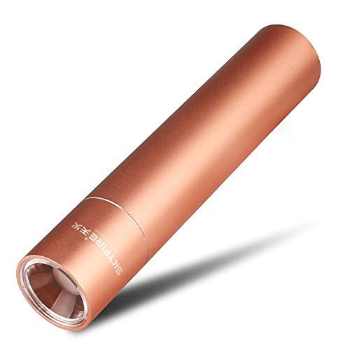 FWSDT Mini lampe de poche LED rechargeable par USB super lumineux lampe de poche de poche 350 lumens puissant lampe de poche T6LED tenue dans la main 3 commutateur de mode pour la randonnée sportive p