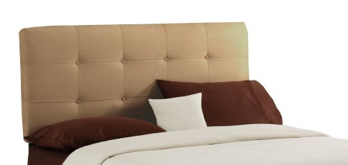 Big Sale Best Cheap Deals Skyline Furniture Surrey California-King Micro-Suede-Upholstered Tufted Headboard, Saddle
