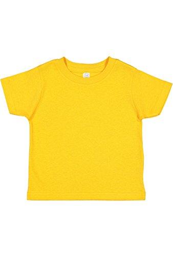 RABBIT SKINS Infant 100% Cotton Jersey Short Sleeve Tee, Gold, 12 Months